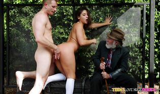 Glamor Abella Danger impales her skinny poontang on the stiff one-eyed monster