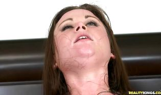 Wonderful brown-haired Sindee Jennings loves riding a cock like crazy