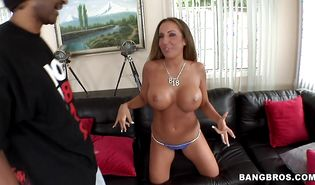 Slender brunette Richelle Ryan with round tits is incredible and enjoys some wild act