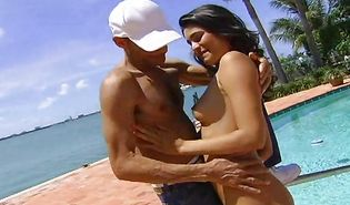 Lustful Paola Rey gets throat fucked