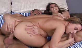 Wanton blond Kelli gets her sweet gash eaten and drilled