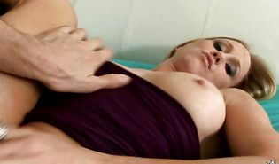 Heavenly golden-haired gal Riley Starr and mate are having sex and enjoying it a lot