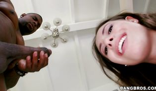 Mesmerizing brown-haired Casey Calvert can seduce any man with her hot body