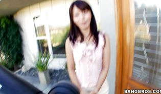 Sweet japanese brunette babe Marica Hase is pleasing a hard love stick