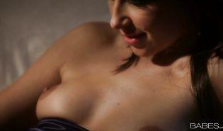 Glorious brown-haired woman Anikka Albrite sucks a boner