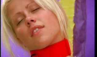 Extraordinary blonde Merry is amazing and receives a very large dick