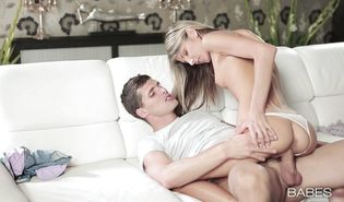 Delightful young golden-haired Gina Gerson is hungry for fat cock